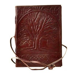 "Sacred Oak Tree Leather Journal w/ Cord 5"" x 7"""
