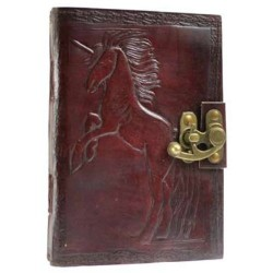 "Unicorn Leather Blank Book w/ Latch 5"" x 7"""