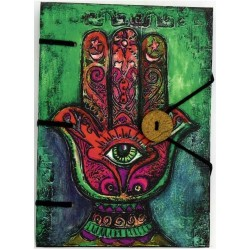 "Hamsa Journal 4.5"" x 6.5"" Handmade Parchment"