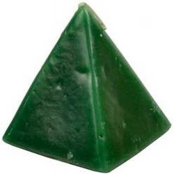 """Pyramid Candle, Green Cherry  2 1/2"""""""