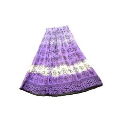 Pentagrams on Purple Fade Tie Dye Skirt