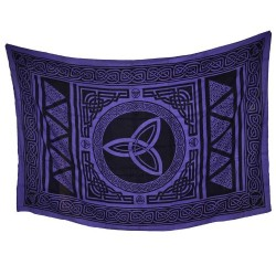 """Triquetra Purple Tapestry 72"""" x 108"""""""