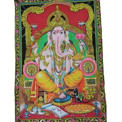 "Ganesha Multi Color Tapestry 30"" x 40"""