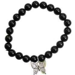 Black Obsidian Hope Butterfly Bracelet