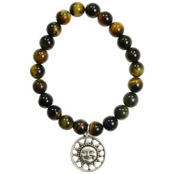 Tiger Eye Bracelet for Joy Sunface Charm
