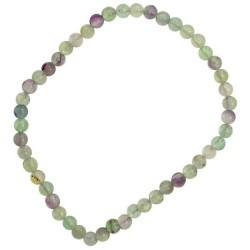 Flourite Stretch Bracelet 4mm
