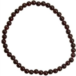 Garnet stretch bracelet 4mm