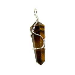 Wire Wrapped Tiger Eye Double Terminated Point