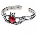 Claddagh By Night Gothic Love Bracelet by Alchemy of England