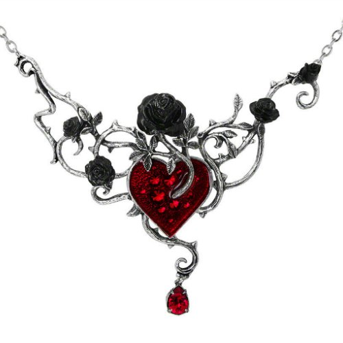 Bed of Blood Roses Gothic Necklace by Alchemy of England