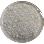 "Crystal Ball Stand - 10"" Flower of Life for 7 Chakra Set"