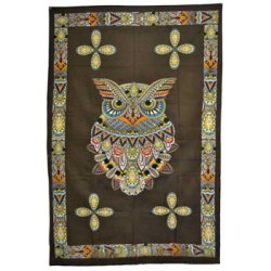 "Owl Tapestry 54"" x 86"""