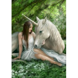 Anne Stokes Pure Heart Unicorn Card 6 Pack