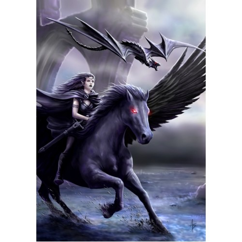 Anne Stokes Realm of Darkness Pegasus Card 6 Pack