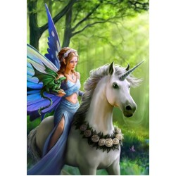 Anne Stokes Realm of Enchantment Unicorn Card 6 Pack