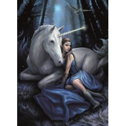 Anne Stokes Blue Moon Unicorn Card 6 Pack