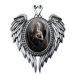 Anne Stokes Enchanted Cameo - Angel Rose