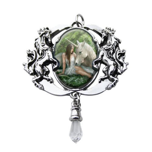 Anne Stokes Enchanted Cameo - Pure Heart Unicorn