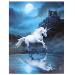 Canvas Art Print - Anne Stokes Moonlight Unicorn