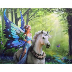 Canvas Art Print - Anne Stokes Realm of Enchantment Unicorn