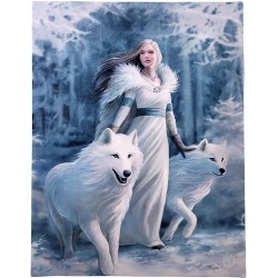 Canvas Art Print - Anne Stokes Winter Guardians