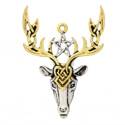 Mythic Celts Pendant - Beltane Stag for Fertile Energy