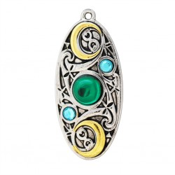 Mythic Celts Pendant - Moon Shield for Clarity & Reflection