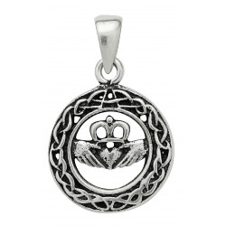 Claddagh Pendant for Love by Symbology Sterling Silver