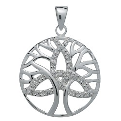 Symbology Pendant - Triquetra Trinity Tree of Life for Unity Sterling Silver