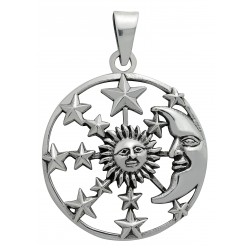Symbology Pendant - Sun, Moon & Stars for Hope Sterling Silver