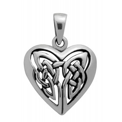Symbology Pendant - Celtic Heart Sterling Silver