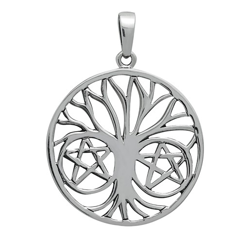 Symbology Pendant - Pentapha Tree of Life for Protection Sterling Silver