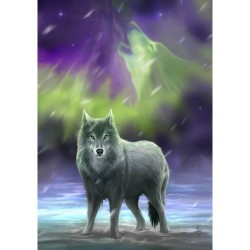 Anne Stokes Fantasy Card 6 Pack - Aura Wolf