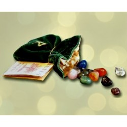 Rune Set & Booklet - Various Stones with Embroidered Bag