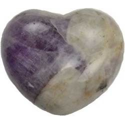 Amethyst, Chevron Heart 1 3/4""